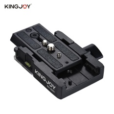Discount Kingjoy Kh 6251 Camera Camcorder Quick Release Plate Tripod Monopod Adapter With 1 4 3 8 Scr*w Aluminum Alloy For Manfrotto 501Hdv 503Hdv 701Hdv 577 519 561 Q5 Intl Hong Kong Sar China