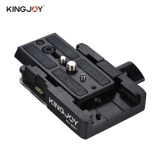 Brand New Kingjoy Kh 6251 Camera Camcorder Quick Release Plate Tripod Monopod Adapter With 1 4 3 8 Scr*w Aluminum Alloy For Manfrotto 501Hdv 503Hdv 701Hdv 577 519 561 Q5 Intl