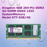 Sale Kingston 4Gb 204 Pin Ddr3 So Dimm Ddr3 1333 System Memory Model Ktt S3B 4G Online On Singapore