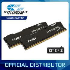 Kingston HyperX Fury 8GB (2x4GB) DDR4 2666MHz CL15 1.2V DIMM (Black) - Desktop Memory