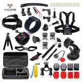 Kit Case Tripod Strap Mount Monopod For Go Pro Hero Session 5 4 3 Sjcam Sj6 Sj7 Xiao Yi 4K Sport Camera Accessories Reviews