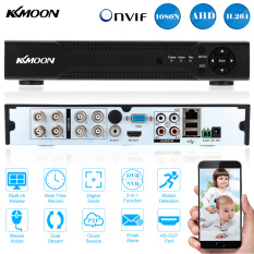 Buy Kkmoon 8Ch Channel Full 1080N 720P Ahd Dvr Nvr Hdmi P2P Cloud Network Onvif Digital Video Recorder Support Plug And Play Android Ios App Free Cms Browser View Motion Detection Email Alarm Ptz For 2000Tvl Cctv Security Camera Surveillance System Intl Online