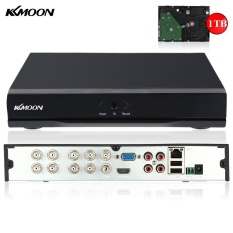 KKmoon 8CH Channel Full 960H/D1 DVR HVR NVR HDMI P2P Cloud Network Onvif  Digital Video Recorder + 1TB Seagate Hard Disk support Plug and Play