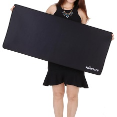KKmoon 900*400*3mm Large Size Plain Black Extended Water-resistant Anti-slip Rubber Speed Gaming Game Mouse Mice Pad Desk Mat - intl