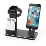 Get The Best Price For Kobwa 4 In 1 Watch Charging Stand Multifunctional Aluminum Dock Desktop Holder Station For Airpods Phones Intl