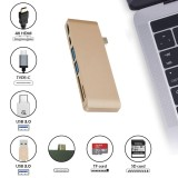 Discount Kobwa Type C Usb 6 In 1 Combo Hub Multi Port Adapter With 2 Usb 3 Ports Type C Pass Through Hdmi 4K Usb C Sd Micro Sd Charging Port Card Reader For Laptop Intl Kobwa