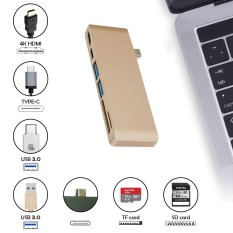 Get Cheap Kobwa Type C Usb 6 In 1 Combo Hub Multi Port Adapter With 2 Usb 3 Ports Type C Pass Through Hdmi 4K Usb C Sd Micro Sd Charging Port Card Reader For Laptop Intl