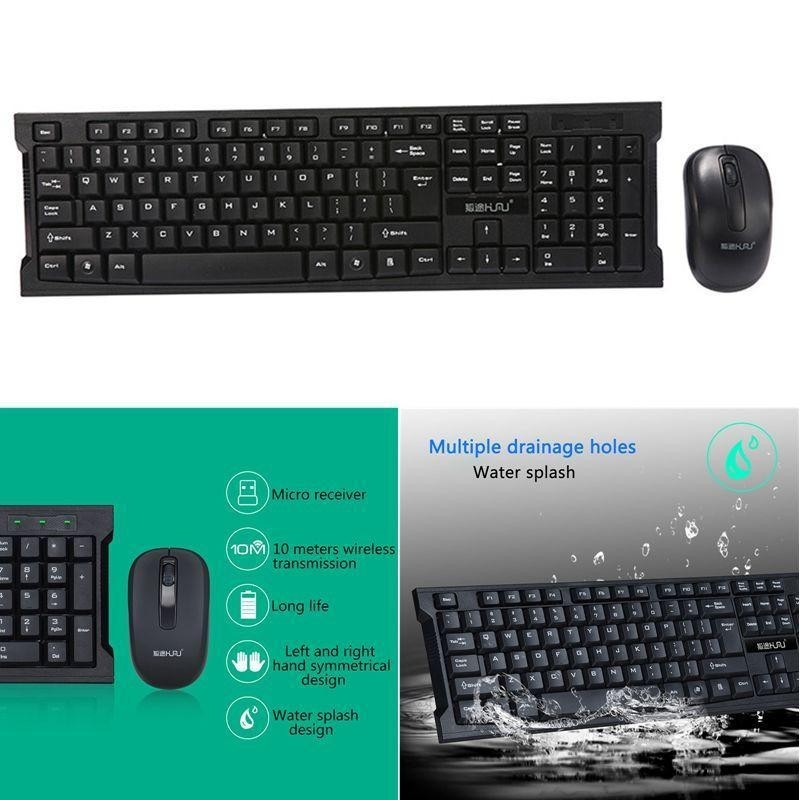 Kobwa Wireless Keyboard And Mouse Combo — Keyboard And Mouse Included, 2.4GHz Dropout-Free Connection - intl