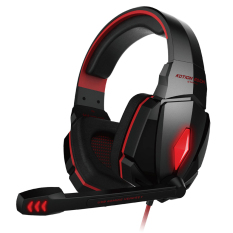 Low Cost Kotion Each G4000 Stereo Noise Cancelling Gaming Headset W Mic Hifi Driver Led Light For Pc Red Black