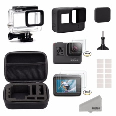 Top Rated Kupton Accessories For Gopro Hero 6 5 Black Starter Kit Travel Case Small Housing Case Screen Protector Lens Cover Silicone Protective Case For Go Pro Hero6 5 Outdoor Sport Kit Intl