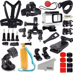 Cheapest Kupton Accessories Kit For Gopro Hero 2018 6 5 Action Camcorder Camera Accessories Mounts Waterproof Case Chest Head Strap Bike Car Backpack Clip Mount For Go Pro Hero6 5 Intl