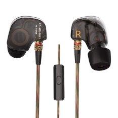 Get Cheap Kz Ate 3 5Mm In Ear Headphones W Microphone Hifi Stereo Music Headset Copper Driver Earphones Noise Canceling Sport Earbuds Intl
