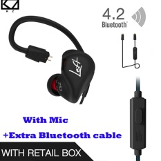 Cheapest Kz Zs3 Ergonomic Detachable Cable Earphone In Ear Audio Monitors Noise Isolating Hifi Music Sports Earbuds With Microphone Blueteeth Cable Black Intl Online