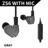 Price Comparisons Kz Zs6 3 5Mm In Ear Headphones 2Dd 2Ba Hybrid Drivers Hifi Running Sports Headset Music Earbud Built In Microphone With Replacement Earphone Cable Black Intl