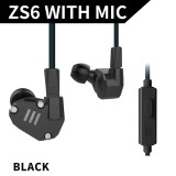 Kz Zs6 3 5Mm In Ear Headphones 2Dd 2Ba Hybrid Drivers Hifi Running Sports Headset Music Earbud Built In Microphone With Replacement Earphone Cable Black Intl On China