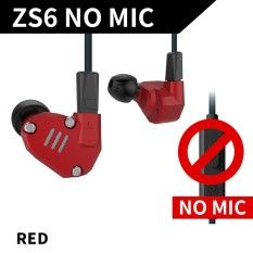 Compare Prices For Kz Zs6 3 5Mm In Ear Headphones 2Dd 2Ba Hybrid Drivers Hifi Running Sports Headset Music Earbud With Replacement Earphone Cable Red Intl