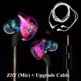 Price Comparison For Kz Zst Coloful Version Zst Pro Earphone Hybrid Headset For Xiaomi Lg Iphone Mobiles Hifi Earbuds 1Dd 1Ba Headphone With Microphone Intl