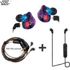 Purchase Kz Zst Hybrid Earphone Bluetooth Wire Dynamic Drive Hi Fi Bass Earphones For Sport Music Smart Phones Intl Online