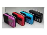 The Cheapest L 988 Multifunctional Mini Portable Digital Mp3 Player Fm Radio With Speaker Red Online