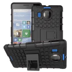 Best Lancase Plastic Tpu Kickstand Hybrid Hard Case For Microsoft Nokia Lumia 950Xl Black Export