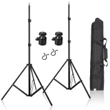 Lands 2 Pcs 80 Inch Aluminum Adjustable Impact Tripod Light Stands With Carrying Bag For Vive Vr Intl Best Price