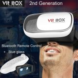 Discount Promotion Latest 3D Virtual Reality Vr Box 2 Glasses Headset Helmet Remote For For 3D Games Movies White Savfy