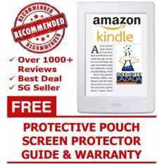 GeekBite Amazon Kindle Paperwhite 300 PPI White + Kindle Premium Pouch + Screen Protector (Wifi/Special Offers)
