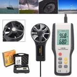Price Lcd Digital Cfm Cmm Wind Speed Backlight Airflow Gauge Meter Thermo Anemometer Intl China