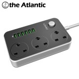 Retail Price Ldnio 3 Uk Power Socket Outlet 6 Usb Adapter Wall Charger Dock 5V 3 4A Surge Protector Extension Strip For Phone Camera Home Intl