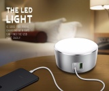 Low Cost Ldnio A2208 Aluminium Touching Sensor Switch 3 Modes Led Night Light Home Charger With 2 Usb Quick Charging Ports 5V 2 4A Eu Plug For Phone Intl