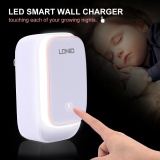 Ldnio A3305 Fast Charge Of 3 Port Usb Night Light Charger Adapter With Led Light Adapter For Mobile Phone For Ios Android Intl Price Comparison