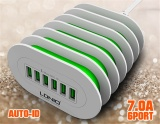 Discount Ldnio A6702 6 Usb Multi Ports Charging Station Smart Adaptive 7A Desktop Eu Us Uk Au Plug 6Usb Ports Fast Charger For Iphone 7 6 5 Ipad For Samsung Phone Tablets Intl