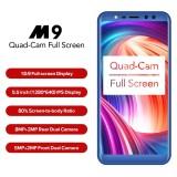 Cheapest Leagoo M9 Quad Cam 18 9 Full Screen Mobile Phone Fingerprint 5 5 Inch Android 7 2Gb 16Gb Intl Online