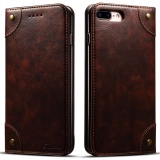 Store Leather Folio Flip Cover Wallet Phone Case For Apple Iphone 7 Flip Cases With Card Slots Holder Dark Brown Intl Oem On China
