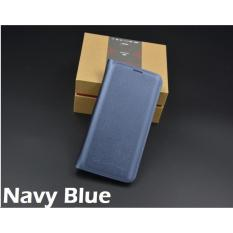Review Leather Wallet Flip Case Casing Cover For Samsung Galaxy S8 Plus S8 Navy Blue Oem On Singapore