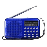 Led Digital Am Fm Radio Voice Recorder Speaker Usb Tf Mp3 Player Led Flashlight Blue Intl Best Price
