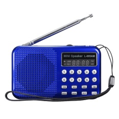 Best Price Led Digital Am Fm Radio Voice Recorder Speaker Usb Tf Mp3 Player Led Flashlight Blue Intl