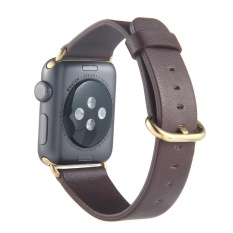 Leegoal Band Leather Stainless Steel Buckle Straps Replacement Watchbands For Apple Watch Series 2 Series 1 42Mm Brown Stainless Steel Buckle Intl Leegoal Cheap On China