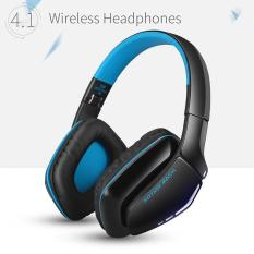 leegoal Convenient B3506 Bluetooth Headphones Wireless Headset Foldable Gaming Headset V4.1 With Mic For PS4 PC Mac Smartphones Computers (Blue) - intl-Intl