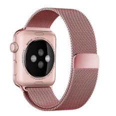 leegoal 38mm Magnetic Clasp Mesh Loop Milanese Stainless Steel Replacement Strap For Apple Watch Sport Edition