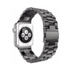 Review Leegoal Solid Stainless Steel Replacement Strap Polished Metal Watchband With Folding Clasp For Apple Watch 42Mm China