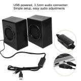 Retail Leegoal Usb Speakers Elegiant Usb Powered Computer Speakers Stereo Sound With 4 Single Bass Diaphragms And 3 5Mm Audio Jack For Pc