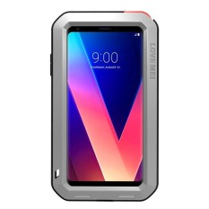 Discount Lg V30 Waterproof Case Shockproof Snowproof Dustproof Durable Aluminum Metal Gorilla Glass Heavy Duty Full Body Protection Case Cover As Shown Intl Mooncase