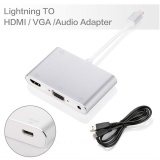 Purchase Lightning 8 Pin Male To Hdmi Vga Audio Female Cable Adapter For Iphone 7 7 Plus Etc White Intl