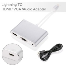 Review Lightning 8 Pin Male To Hdmi Vga Audio Female Cable Adapter For Iphone 7 7 Plus Etc White Intl On China