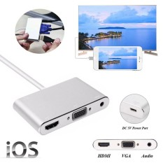 Price Lightning 8Pin To Hdmi Vga Audio Micro Usb Port Adapter Converter For Iphone X 8 8 Plus Etc Intl Oem New