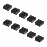 Price Comparisons Lightning Power 10Pcs Aluminum Cooler Radiator Heat Sink Heatsink For Raspberry Pi Ic Chips 20Mm X 20Mm X 10Mm Black Intl