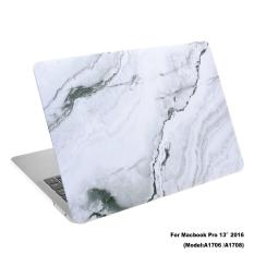 Lightning Power - Rubberized Plastic Hard Shell Cover Case for New MacBook Pro 13 inches (Model: A1706 & A1708, Released in 2016), White Marble Pattern (White Marble Pattern) - intl