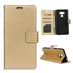 Purchase Litchi Grain Premium Leather Case Magnetic Flip Cover For Asus Zenfone 3 Max Zc553Kl 5 5 Inch Golden Intl