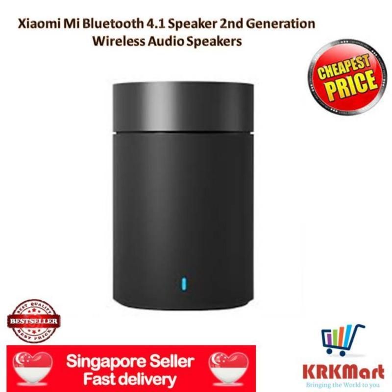 ♠ Local Seller ♠   100%  Original Xiaomi Mi Bluetooth 4.1 Speaker 2nd Generation Wireless Audio Speakers Support Hands-free Calls HiFi Hands Free Speakerphone (black) Singapore